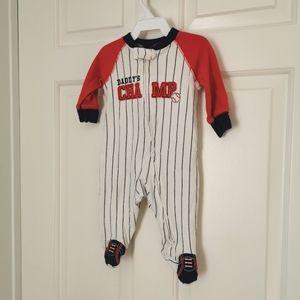 2/$15 Child of mine baseball sleeper 0-3 m